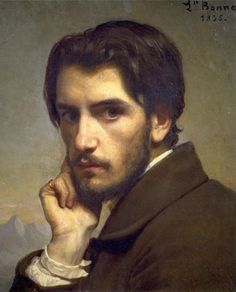Autorretrato, de Léon Bonnat 1855 Eu vejo um anel naquele dedo, mas não é um anel de casamento, meninas!