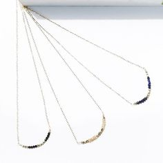 I Love You in Gemstones: Black Spinel, Rose Quartz & Lapis. All of our I Love You pieces have beads in an arrangement of 1- then 4-then 3 to represent the number of letters in the words I love you. Check out the full collection online. * * * * *  #madei