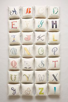Embroidered monogram pillows #anthrofave http://rstyle.me/n/srfcrnyg6