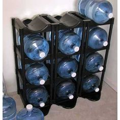 Merveilleux Black Shelf Bottle Buddy By Tailor Made, Holds 12 Bottles $152.99. Gallon  Water ...