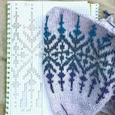 Knitting Charts, Knitting Stitches, Mitten Gloves, Mittens, Knitting Patterns, Crochet Patterns, Icelandic Sweaters, Chart Design, Fair Isle Knitting