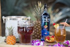 Enjoy a tropical libation during your backyard girls getaway! Make this cocktail recipe for a tropical drink featuring Pinnacle® Pineapple Vodka.