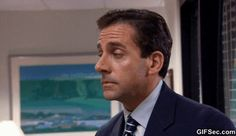 New trending GIF tagged the office michael scott suspicious...