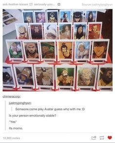 Avatar the Last Airbender Guess Who! I want!