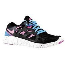 buy online 79c80 92f6e Nike Free Run 2 - Womens - Running - Shoes - Black Distance Blue Summit  White Club Pink
