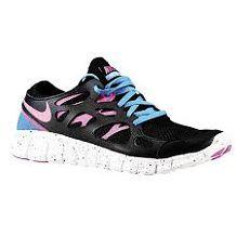 buy online e0f9b f0bd6 Nike Free Run 2 - Womens - Running - Shoes - Black Distance Blue Summit  White Club Pink