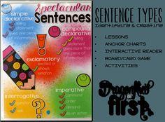 Spectacular Sentences - Sentence Type Anchor Chart - Traci Clausen - Dragonflies in First