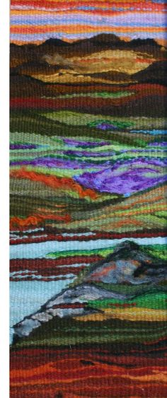 Connemara Landscape Tapestry Weave by bernie dignam, via Behance