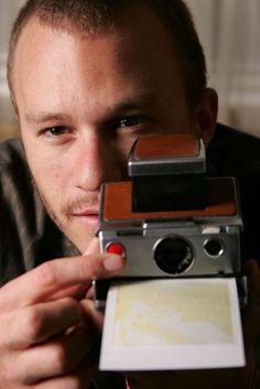 Heath Ledger with a Polaroid