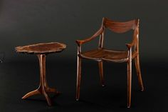 Maple Lowback Chair and Table | Handcrafted by Sam Maloof Wo… | Flickr