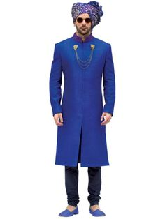 Royal Blue Sherwani