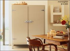 meneghini-off-white fridge. Most beautiful thing in the world but where once can purchase I do not know