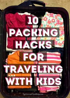 These 10 packing hacks for traveling with kids will make your next family vacation a breeze! I've been using in my own suitcase for years. Traveling with Kids, Traveling tips, Traveling Toddler Travel, Travel With Kids, Family Travel, Family Vacations, Baby Travel, Golf Travel, Family Cruise, Beach Vacations, Packing Hacks
