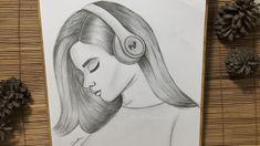 Sad Girl Drawing, Tumblr Girl Drawing, Little Girl Drawing, Beautiful Girl Drawing, Cartoon Girl Drawing, Beautiful Drawings, Pencil Sketches Of Girls, Girl Drawing Sketches, Art Drawings Sketches Simple