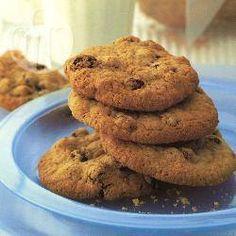 Cookies de aveia e passas