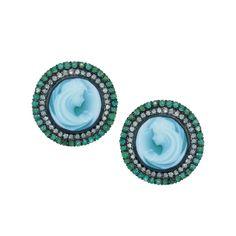 """Blue Agate """"Moira"""" Earrings - Plukka - Fine Jewelry"""