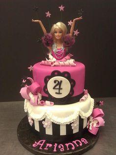 Tarta fondant Barbie