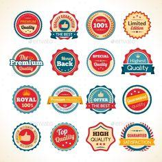 Vintage Premium Quality Color Badges