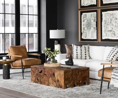 Unique elements take your room to another level. At center stage, the solid Teak Block Coffee Table – bold, confident and one-of-a-kind by nature. A cool Blaze Side Table in lustrous brass, graphic Tribal Pattern art and a wood yoga sculpture play up an exotic vibe. Grounding it all, the Angelo Grand Sofa, hefty and comfortable in kid-and-pet-friendly, Crypton upholstery.
