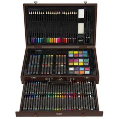 Bring your imagination in the life with this amazing wood case #artset. This is perfect for any beginner and avid #artist.