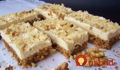 Starinske ŠNITE: Recept dobila od svekrve i prezadovoljna sam! Sweet Desserts, Sweet Recipes, Dessert Recipes, Toffee Bars, Czech Recipes, Sweet Cakes, Sweet And Salty, Sweet Bread, Sweet Tooth