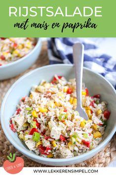 Rijstsalade met mais en paprika - Lekker en Simpel