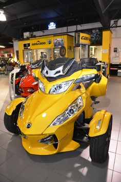 2013 Can Am Spyder on the showroom at Woods Cycle Country #WoodsCycleCountry