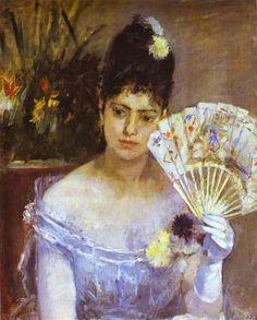 At the Ball. 1875 - Musée Marmottan, Paris, France. Impressionist. Berthe Morisot (1841 – 1895).