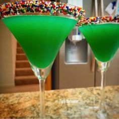 Get all Green with our Sprinkles on St Patrick! Recipe? Click Here! http://www.tipsybartender.com/Sprinkles+on+St+Patrick