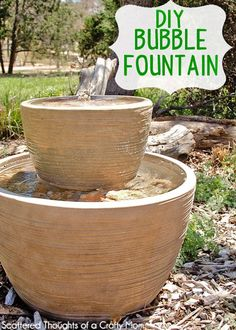 DIY Easy Water Fountain for Backyard by DIY Ready at  http://diyready.com/easy-backyard-projects/