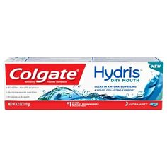 Colgate Hydris Dry Mouth Toothpaste - 4.2oz Toothpaste Brands, Colgate Toothpaste, How To Prevent Cavities, Bad Breath, Mint, How To Get, Personal Care, Reading, Products