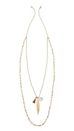 Chan Luu Layered Chain & Bead Necklace
