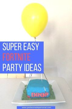 Fortnite Birthday Party Ideas that are super easy to DIY on any budget. Click here for more details. #fortnite #fortniteparty #fortnitecake #fortnitebirthday