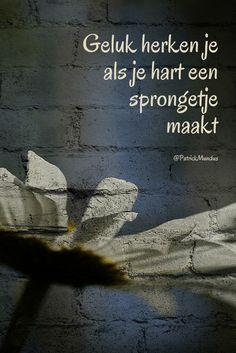 #Geluk herken je als je hart een sprongetje maakt...