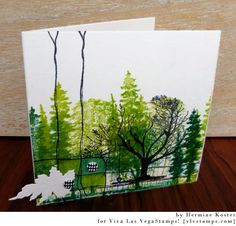 Hi Hermine here, my favorite colour is green as you maybe can tell :o) so I made this clean and simple card with lots of green. Art Base, Artist Trading Cards, Mail Art, Card Tags, Greeting Cards Handmade, Homemade Cards, Making Ideas, Cardmaking, Birthday Cards