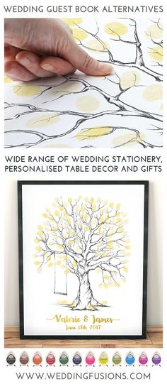 A fingerprint wedding guestbook makes the perfect wedding keepsake, a unique memento to cherish forever and a beautiful piece of art for your home! Glitter Wedding Centerpieces, Gold Glitter Wedding, Edible Wedding Favors, Unique Wedding Favors, Diy Wedding, Wedding Ideas, Unique Weddings, Wedding Inspiration, Wedding Fingerprint Tree