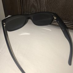 Ray Ban WAYFARER RB2140 901S 17 54mm 100% Authentic Matte black with Blue lens  Super clean, comes with new case and booklet and new cleaning cloth… ba5ee1c1f91d