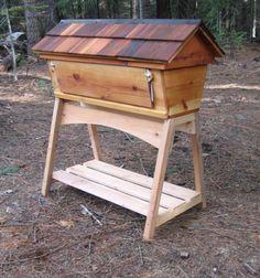 top-bar bee hive