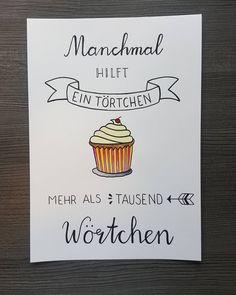 "Gefällt 59 Mal, 3 Kommentare - Julia K. (@youle_me) auf Instagram: ""Neustes Werk #lettering #brushpen #aquarell #kuchenliebe #törtchen #celebratethelittlethings…"""
