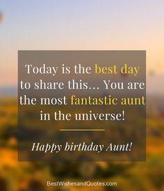 Happy Birthday to my Aunt Birthday Quotes, Birthday Wishes, Happy Birthday Aunt, Pick One, Messages, Sayings, Special Birthday Wishes, Anniversary Quotes, Lyrics