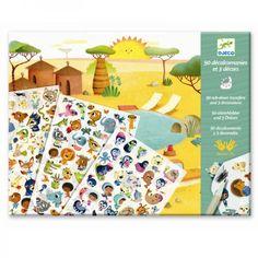 Djeco Kreativset Abziehbilder Rubbelbilder Tiere Savanne, Wüste und Nordpol - Bonuspunkte sammeln, auf Rechnung bestellen, DHL Blitzlieferung!