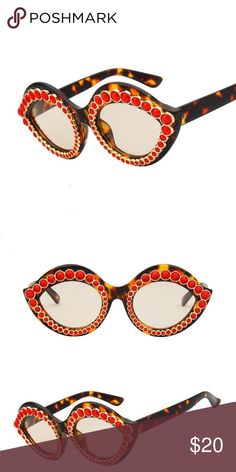 5364c7e397 Tortoise shell cat eye sun glasses Color  tortoise shell with gold and red  accents Avail