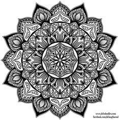 Stipple Mandala 3 By WelshPixie - (welshpixie. Mandalas Painting, Mandalas Drawing, Mandala Coloring Pages, Colouring Pages, Adult Coloring Pages, Coloring Books, Design Tattoo, Mandala Tattoo Design, Tattoo Designs