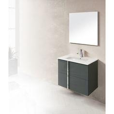Dawn Onix Anthracite Vanity Set Onix-3207: 1 Sink top