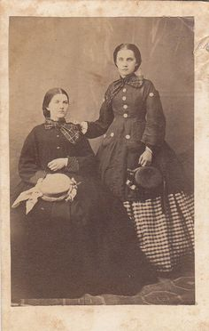 Civil War CDV Tax Stamp Ladies Bonnets Coats