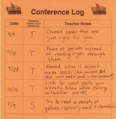 Teacher and student conference.