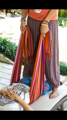 A rebozo is a traditional Mexican shawl used in pregnancy and labor by doulas an midwives as a comfort measure and to encourage optimal positioning for baby.
