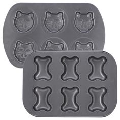 Love the cat one...the bone I could use for Halloween treats... 2 for $18 right now. Never make boring muffins again. These playful muffin pans brighten up your baking with a friendly dose of pet-loving pep