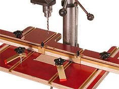 Incra and Woodpecker Tables and Fence Upgrades Woodworking Drill Press, Woodworking Projects, Workshop Ideas, Garage Workshop, Pedestal Drill, California Location, Drill Press Table, List Of Tools, Tool Shop