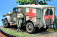 WC 54 Ambulance Army Vehicles, Armored Vehicles, Plastic Model Kits, Plastic Models, Image Avion, Army Medic, Dodge Power Wagon, Military Modelling, Military Diorama